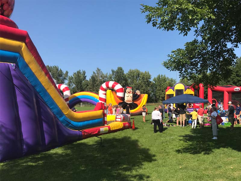 Inflatable Jump Houses in the Kids Activity Zone